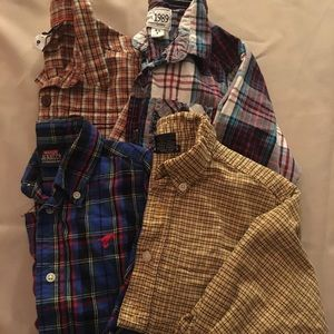 Boy's Lot of 4 Long Sleeve Button up Shirts Size 4